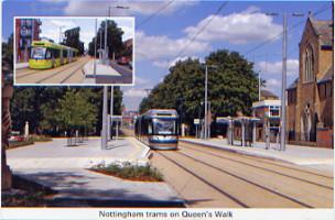 33. Nottingham trams on Queens Walk