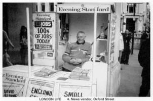 4 News  vendor, Oxford Street