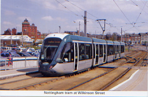32 Nottingham tram at Wilkinson Street