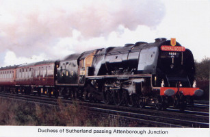 29 Duchess of Sutherland passing Attenborough Junction