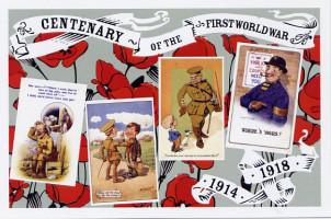 3 Comic postcards