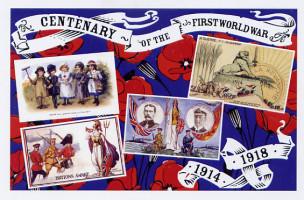 6 Patriotic postcards
