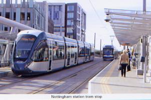 40. Nottingham station tram stop