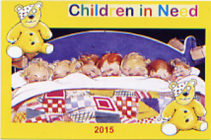 2015 card - Seven in a bed (adapted from Mabel Lucie Attwell design)