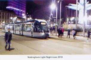 50. Light night tram