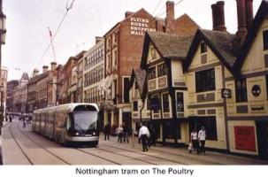 7 Tram passing Flying Horse