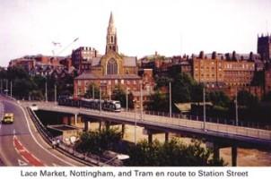 17 Tram passing Lace Market