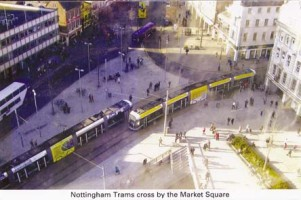 24 Trams crossing by Market Square