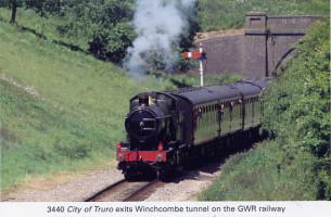 18 City of Truro leaving Winchcombe Tunnel