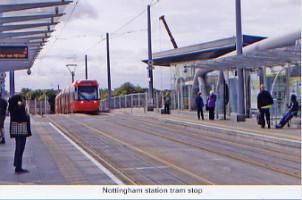 41. Nottingham station tram stop