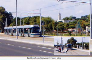 45. Nottingham University tram stop