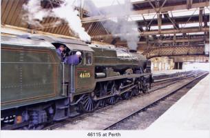 32 Royal Scot 46115 at Perth