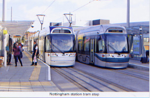39. Nottingham station tram stop