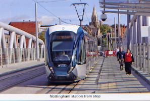 42. Nottingham station tram stop