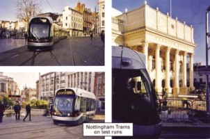 2 Trams on test runs