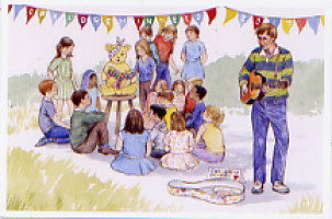 2017 card by John Pulham - busker