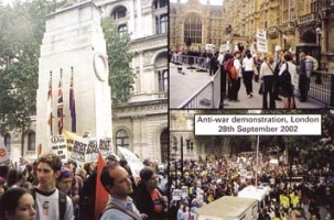 Anti-war demo in London 28 Sept 2002