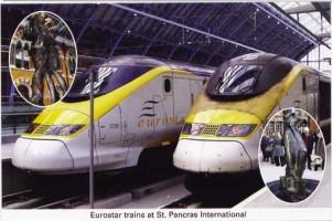 12 Eurostar trains at St. Pancras International