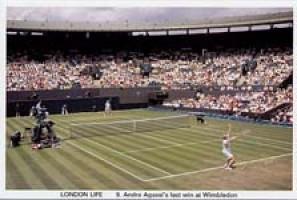 9 Agassi's last win at Wimbledon