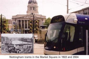 11 Trams in Market Square 1922/2004*