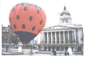 8 Ladybird balloon in  Market Square Robin Macey