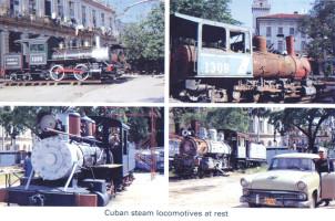 14 Retired steam locos in Cuba