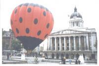 8 Ladybird balloon in  Market Square Robin Macey