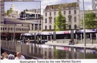 21 Trams by New Market Square