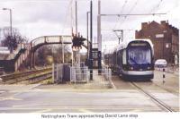 22 Tram approaching David Lane stop