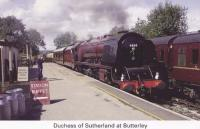 2 Duchess of Sutherland at Butterley