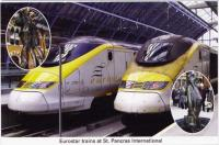 12 Eurostar trains at St. Pancras International