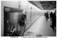 2 Busker, Westminster under ground station